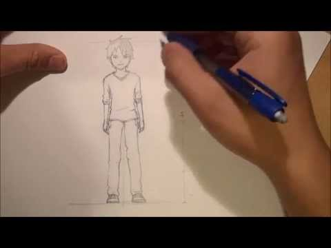 480x360 How To Draw Anime Male Body Proportion