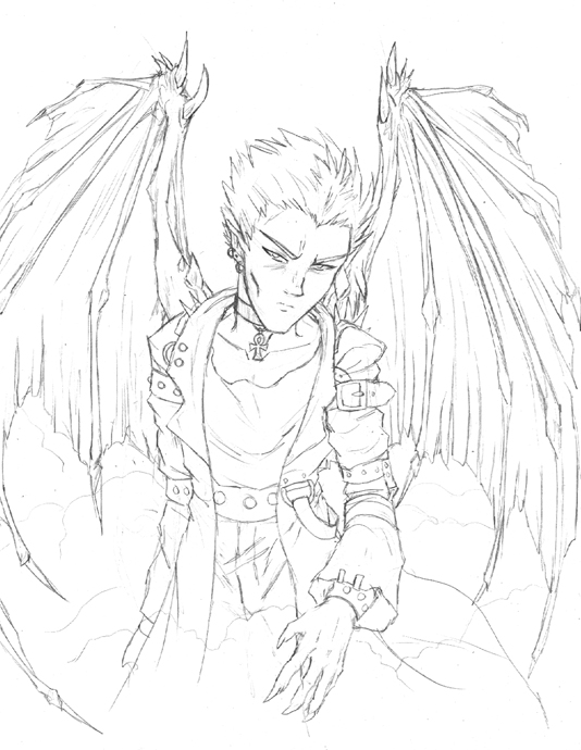 Anime Demon Drawing at GetDrawings | Free download
