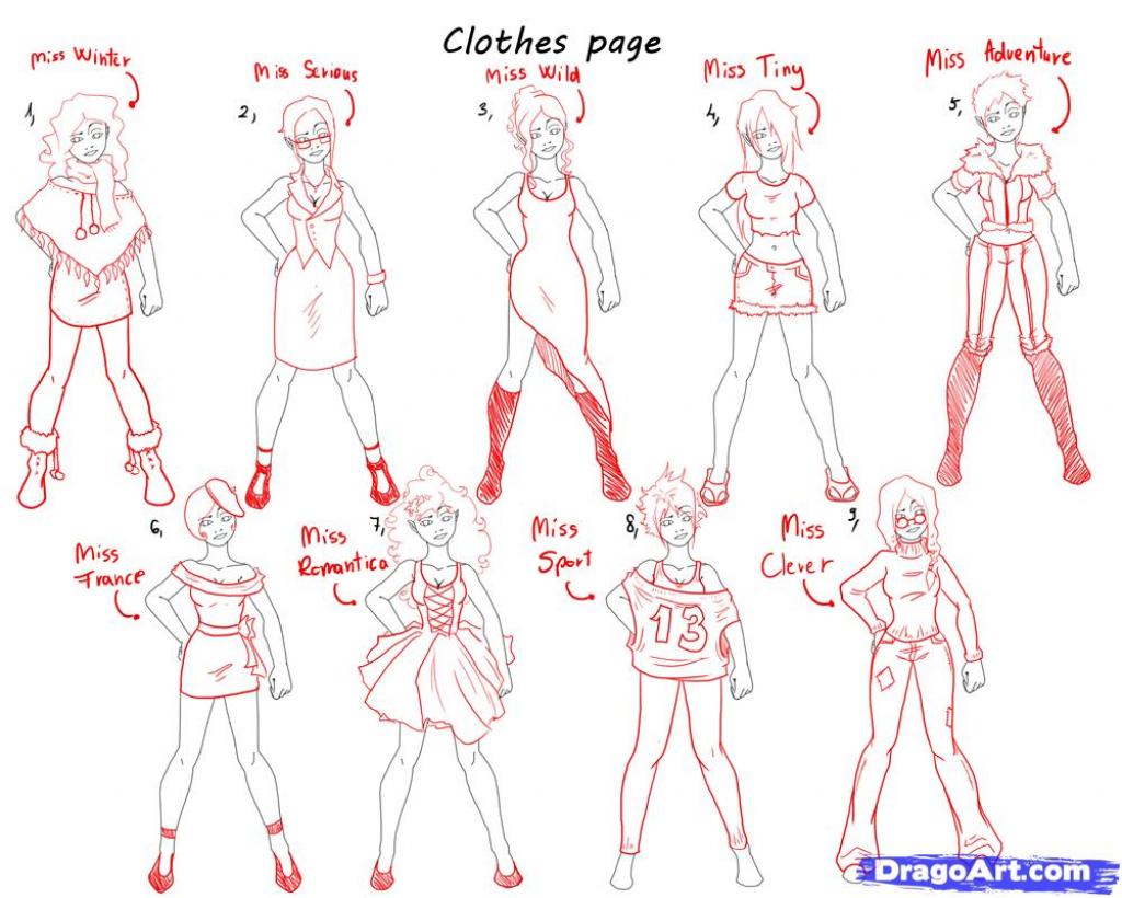 1024x820 Animes Girls Clothes Draw Step 8 How To Draw Pretty Girls Draw