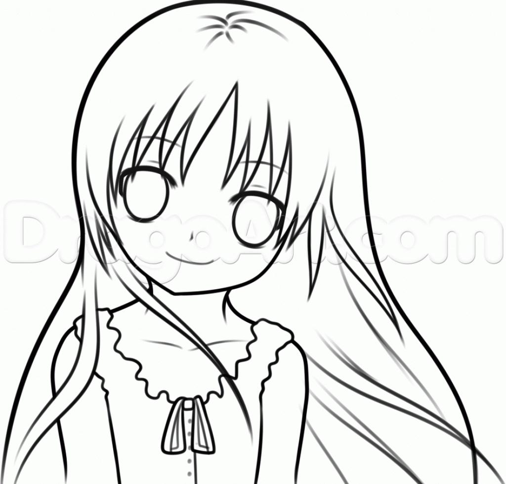 1024x979 Easy Anime Girl Drawing