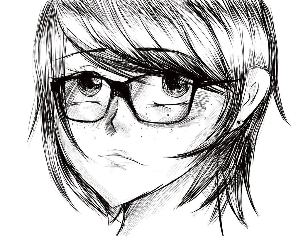 992x806 Nerd Anime Girl By Poppy7788