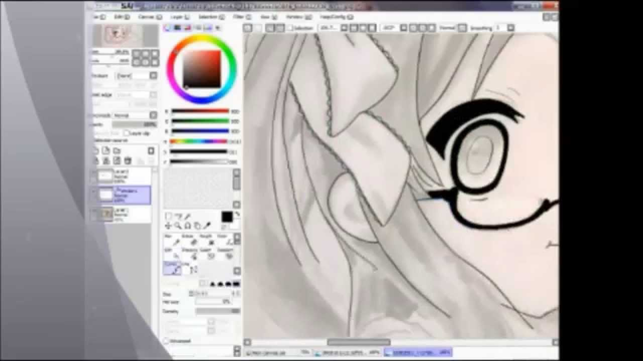 1280x720 Tools For Drawing Anime How I Draw Anime Girl In Paint Tool Sai