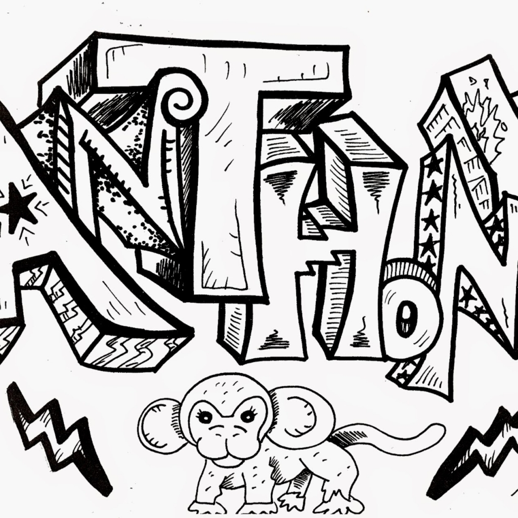 1024x1024 The Name Anthony In Graffiti Name Anthony In Graffiti Anthony Name