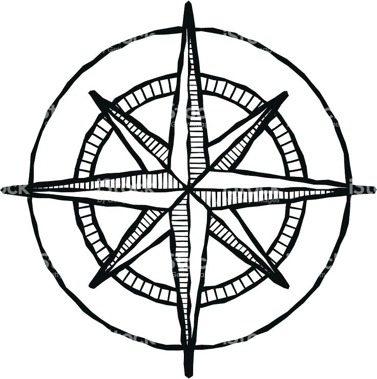 736x739 Compass Rose Art Vector Vintage Clip Colinmackenzie
