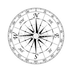 236x236 Draw A Compass Rose Compass Rose, Compass And Barn