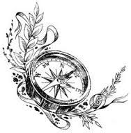 188x192 Antique Compass Drawing