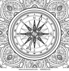 236x246 Oldmaps Compass Roses Compass And Compass Rose