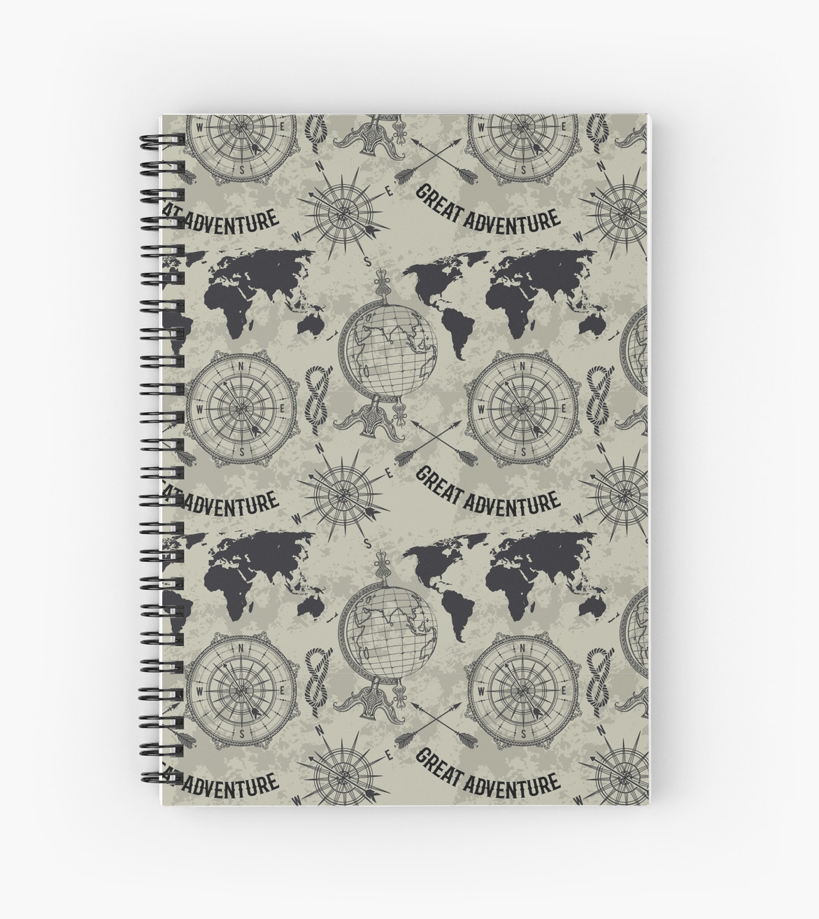 1171x1313 Seamless Pattern With Vintage Globe, Compass, World Map And Wind