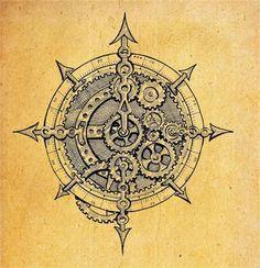 236x244 Antique Nautical Compass Tattoo