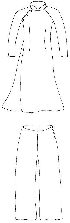 235x750 Folkwear Vietnamese Ao Dai