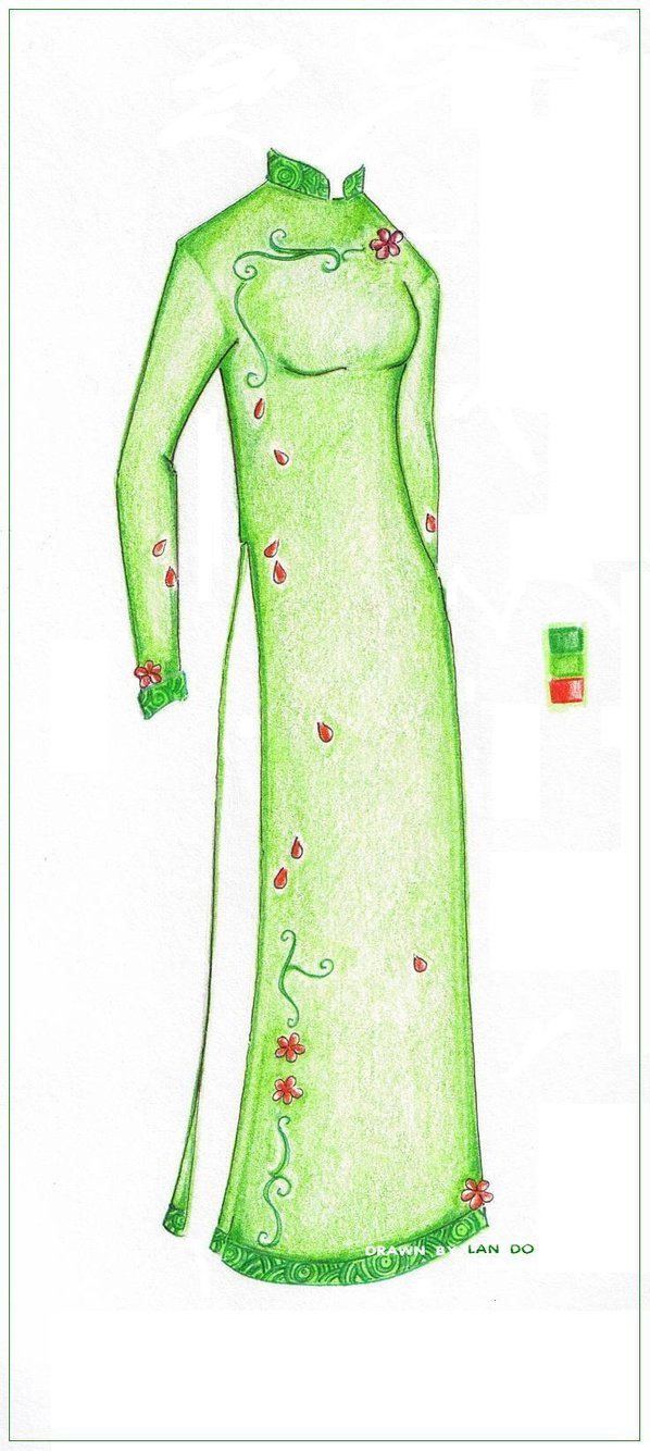 598x1334 Collection Of Ao Dai Drawing High Quality, Free Cliparts