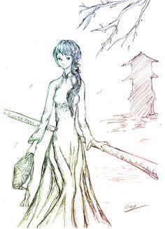 236x327 Ao Dai Drawing Anime Ao Dai Drawing Vietnamese Solana Pho Mural