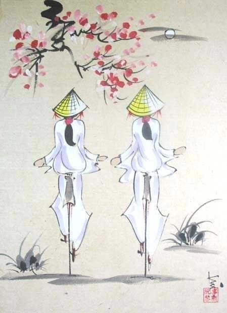 449x618 Etudiantes En Ao Dai Blanc Vietnam Culture And Art