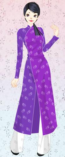 207x500 Purple Ao Dai Beauty By Russj17