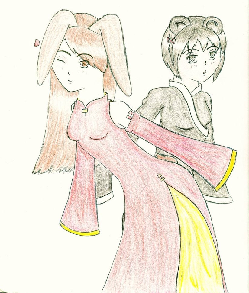 824x970 Ao Dai And Mei Lan Aiko Chan's Friends By Kikikittyninja