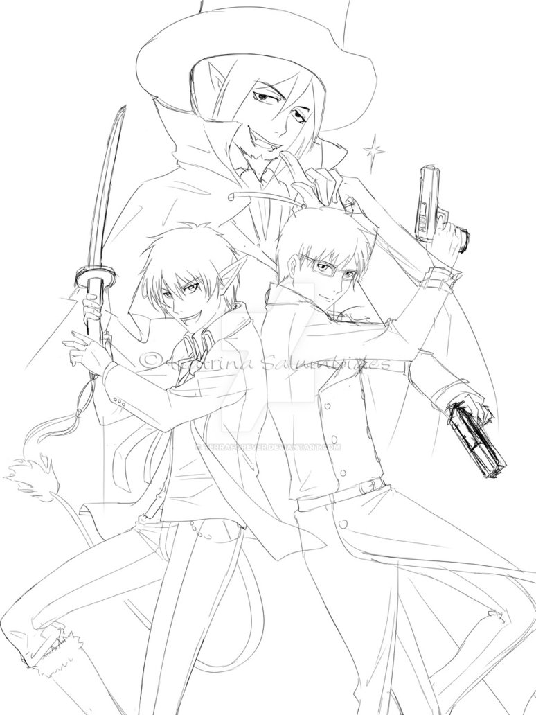 774x1032 Ao No Exorcist Sketch By Terraforever