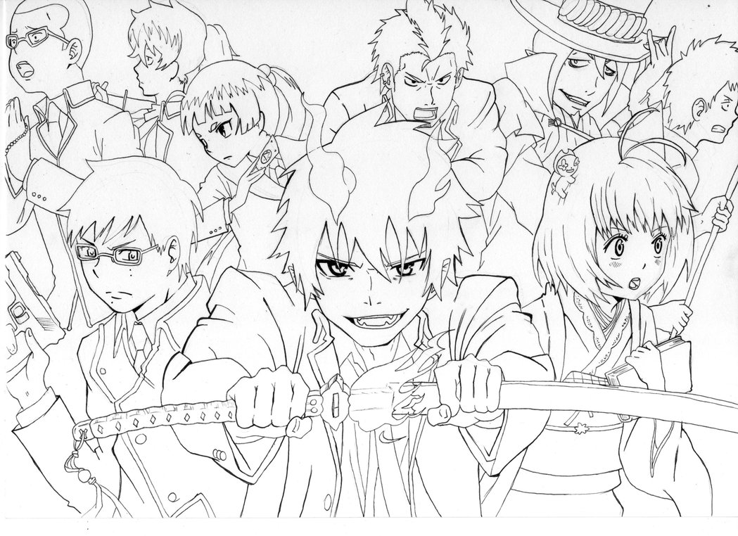 1049x762 Ao No Exorcist By Manuel Sama
