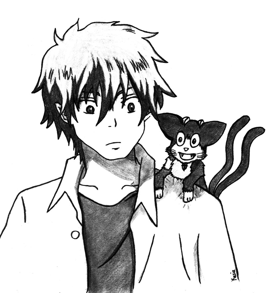 1024x1118 Rin And Kuro From Ao No Exorcist By Yashamarupl