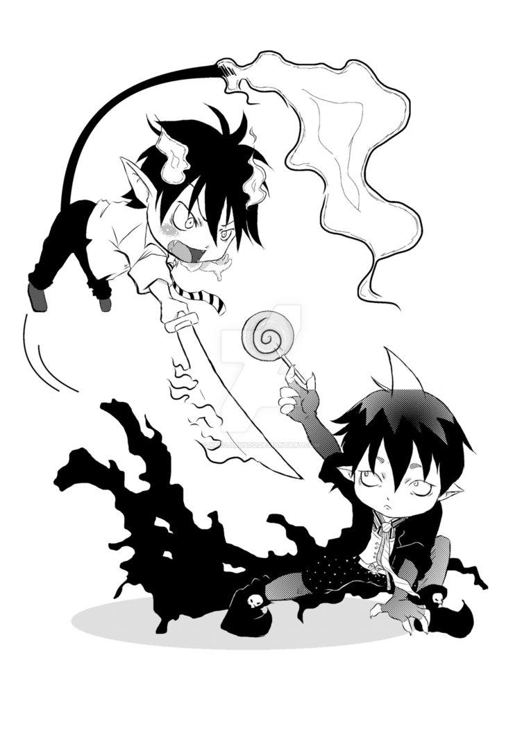 752x1063 Rin X Amaimon (Ao No Exorcist) By Nekojirusou