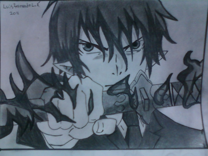 800x600 Ao No Exorcist, Drawing By Nandolopal