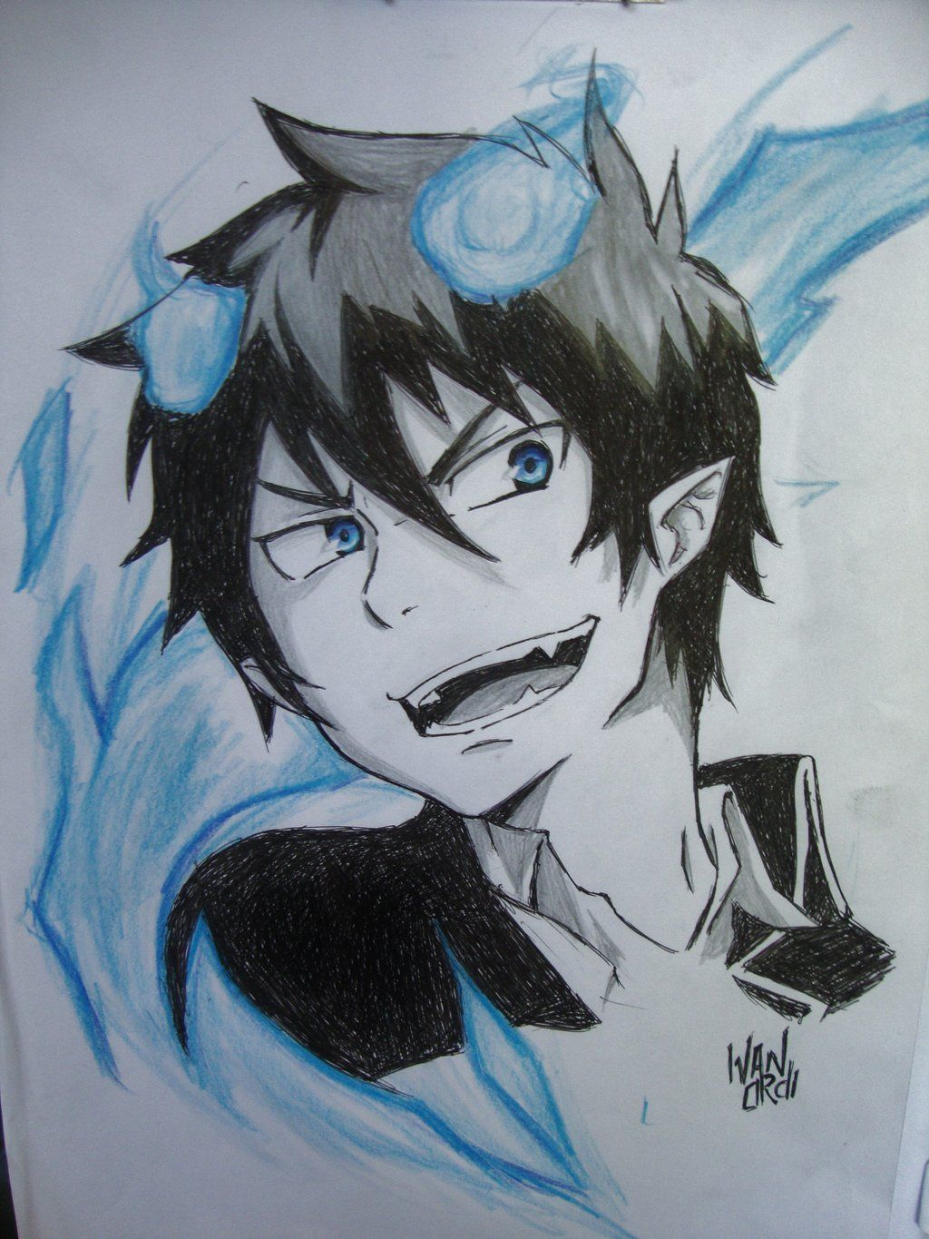 1024x1365 Ao No Exorcist Drawing