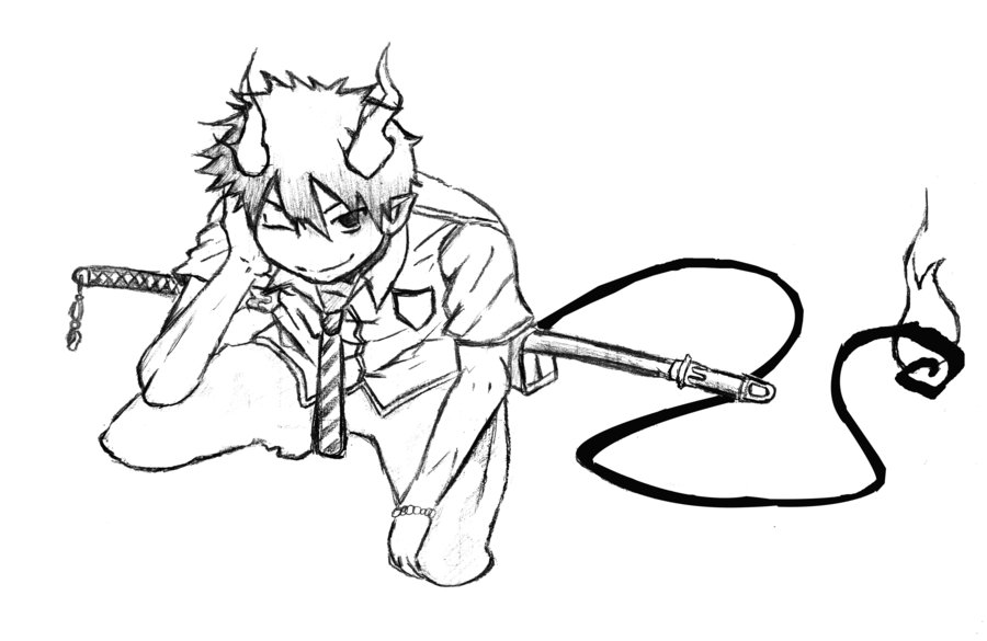 900x585 Ao No Exorcist Rin By Mikzz19