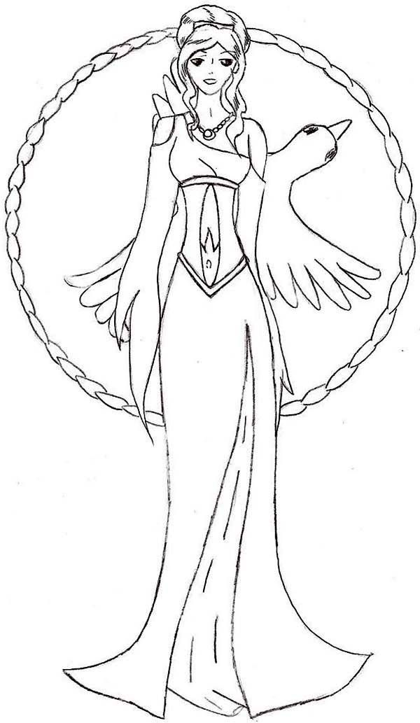 600x1033 Aphrodite, Manga Picture Of Aphrodite Coloring Page Coloring