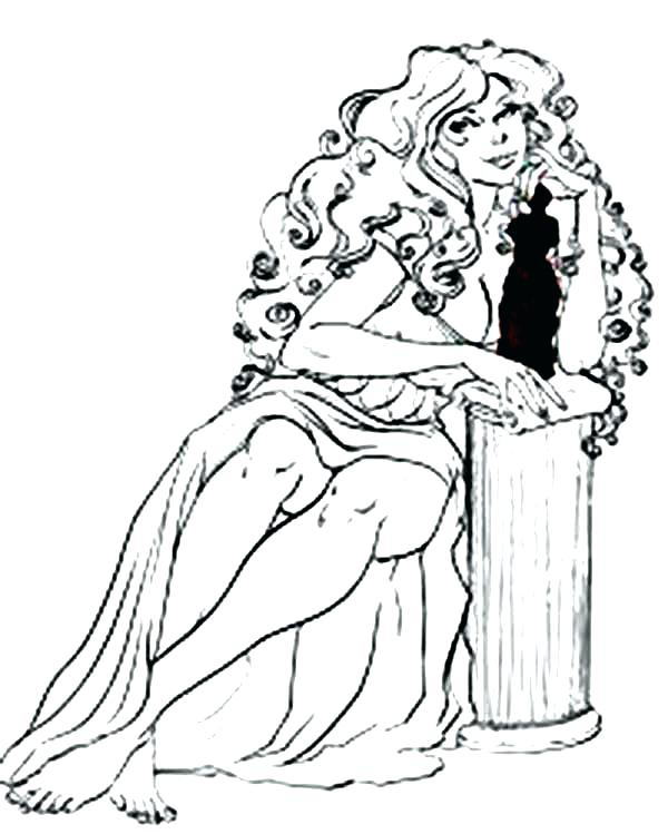 600x749 Aphrodite Coloring Page Coloring Pages Aphrodite Coloring Pages