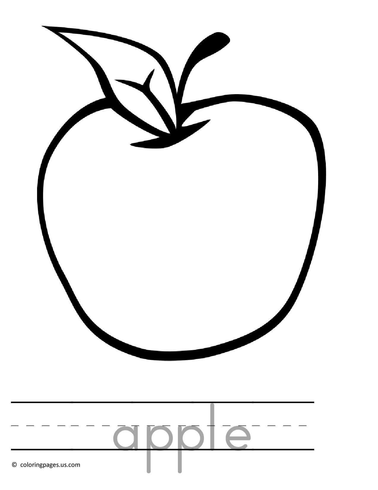 1275x1650 Apple Sketch Clipart Typegoodiesme