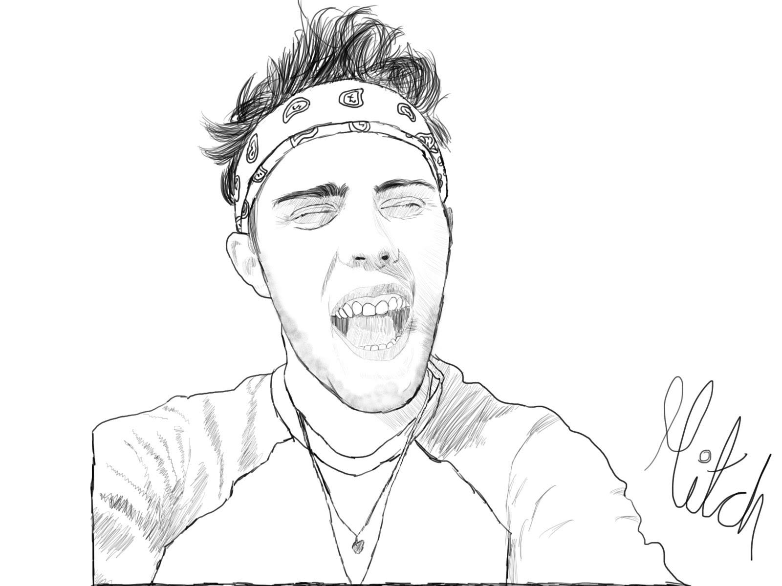 1600x1200 Drawing Alfie Deyes (Pointlessblog)
