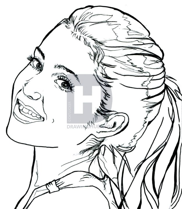 626x720 How To Draw Ariana Grande, Ariana Grande, Step By Step, Drawing