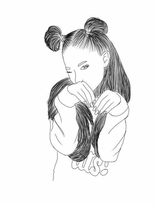 500x655 Outline Ariana Grande Shared By Tatooed Heart