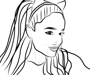 300x250 Collection Of Simple Ariana Grande Drawing High Quality