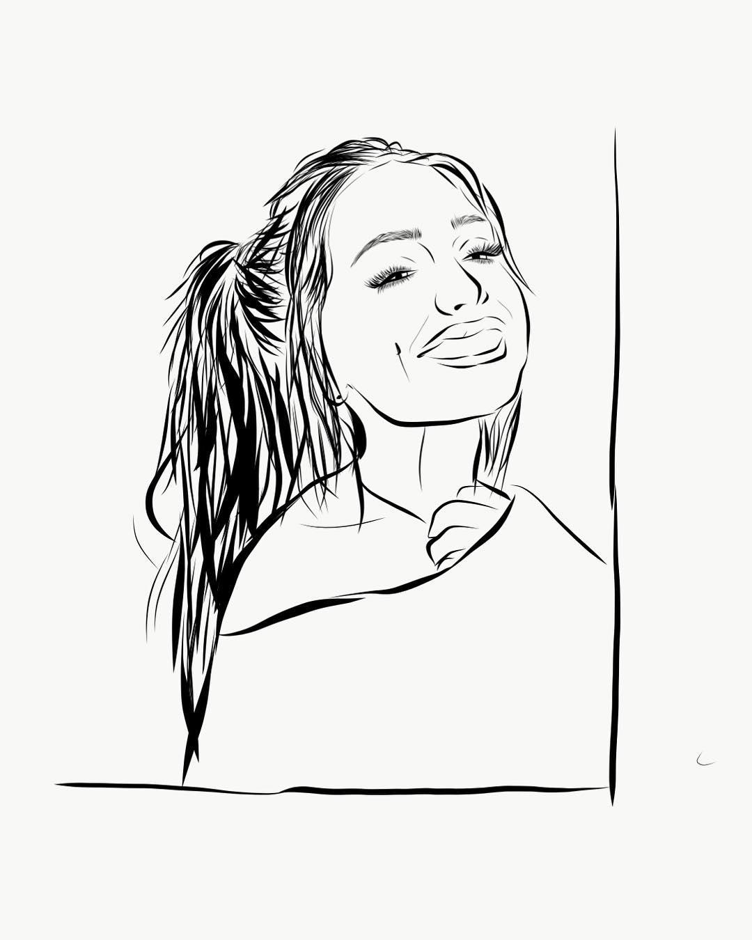 1080x1350 Ariana Grande Drawing On Instagram