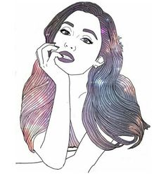 Ariana Grande Drawing Outline At Getdrawings Com Free For