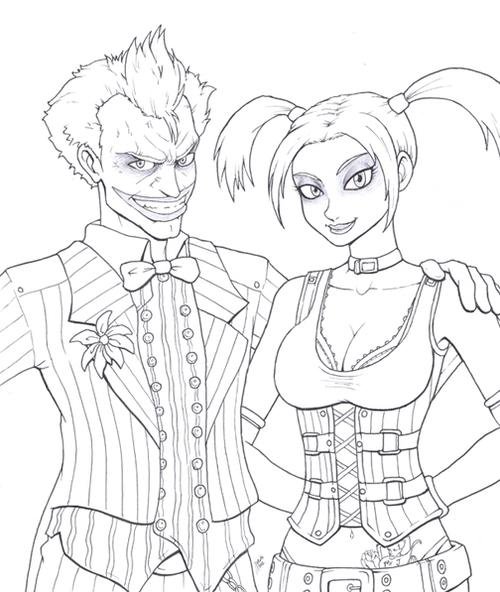 Arkham Asylum Joker Drawing