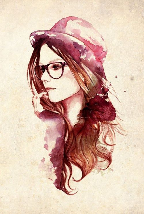 500x745 Girl Art Drawing Image About Girl In Art Helena On We Heart It