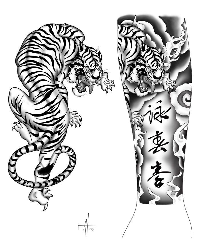 Asian Tiger Drawing