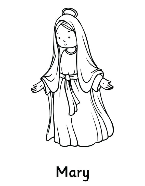 Assumption Drawing At Getdrawingscom Free For Personal Use - Hail-mary-coloring-pages