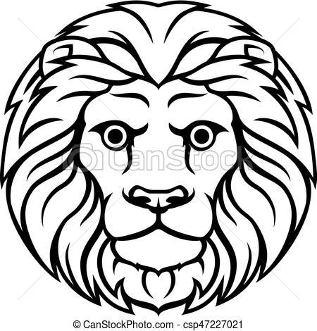 450x470 Leo Lion Zodiac Horoscope Sign. Astrology Horoscope Zodiac