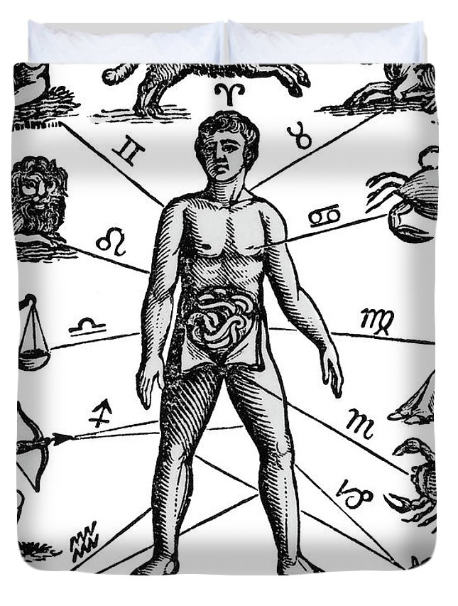 645x853 Zodiac Man Drawing Relating Astrology Duvet Cover For Sale By
