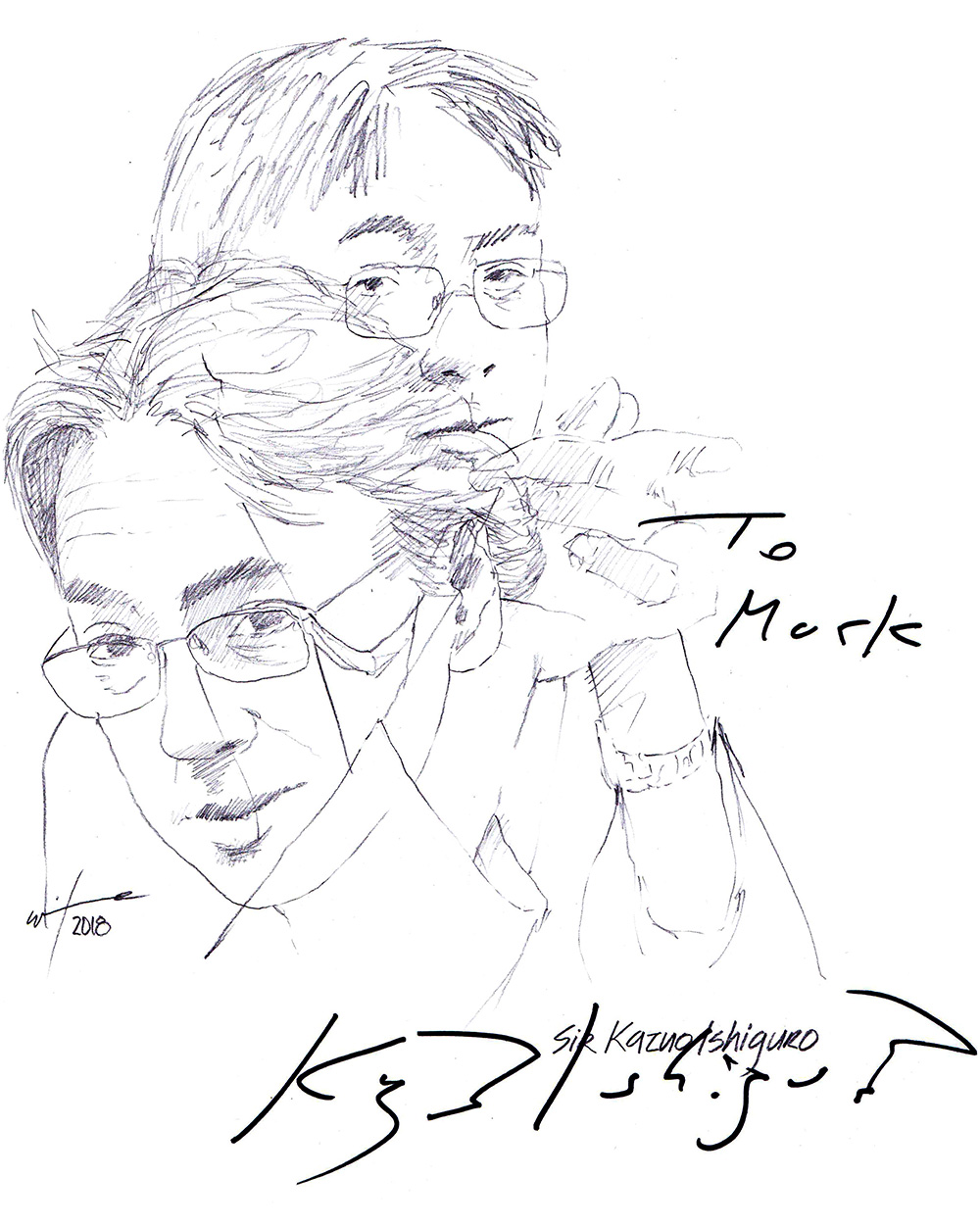 1000x1251 Drawing Sir Kazuo Ishiguro Chicanepictures