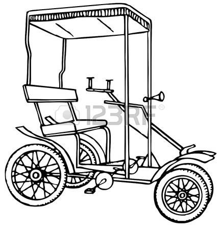 Auto Rickshaw Drawing
