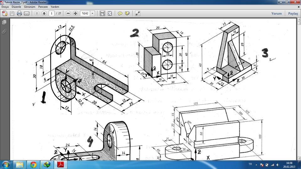 960x540 Pdf) Example 3d Drawing (250 Pcs) For Beginners. 3d Cad Model
