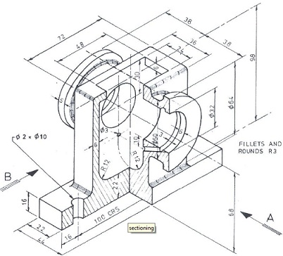 402x364 Collection Of Autocad Engineering Drawing High Quality, Free