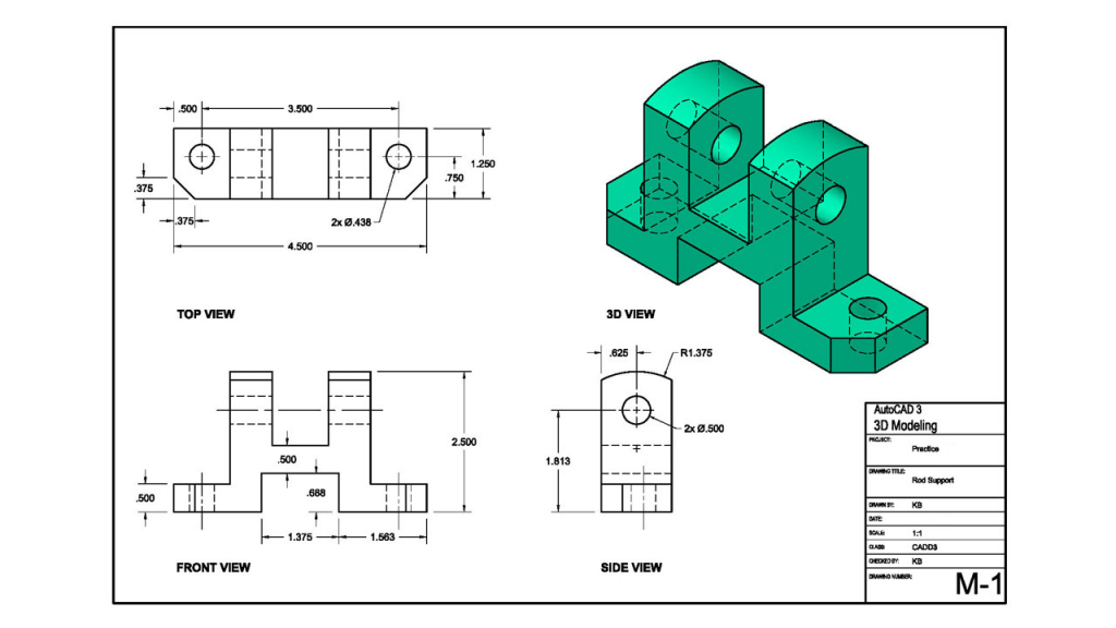 1024x576 3d Mechanical Drawing Autocad 3d Modeling Course 3