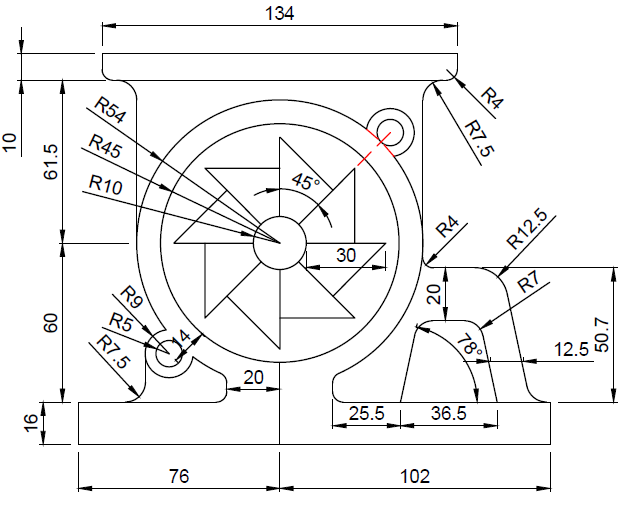 621x505 Collection Of Autocad Mechanical 2d Drawing Exercises High