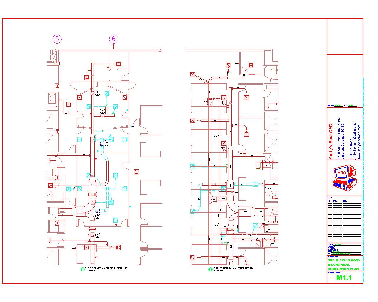 1280x1024 Autocad Hvac Drafting Samples