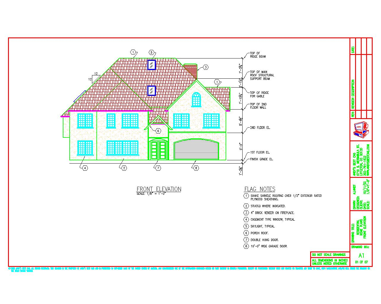 1280x1024 Autocad Architectural Drafting Samples