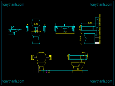 Autocad Toilet Elevation Drawing at GetDrawings | Free ...